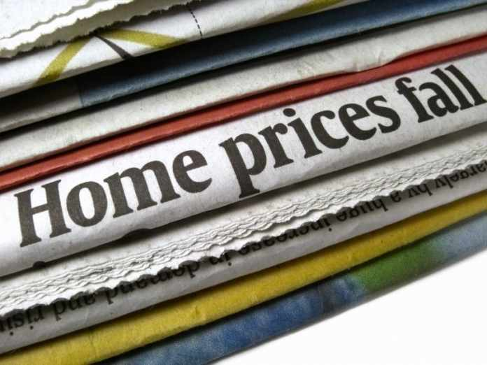 Fall in house prices